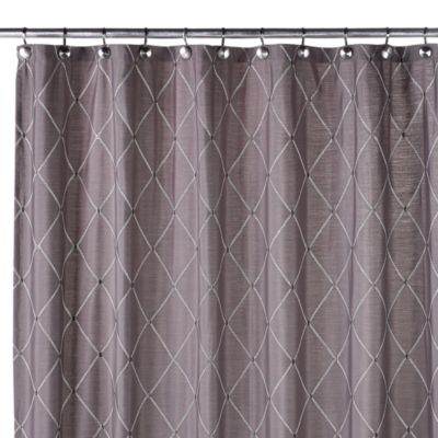 Wellington 72-Inch W x 96-Inch L Shower Curtain in Grey - Buy 96-Inch Shower Curtain From Bed Bath & Beyond