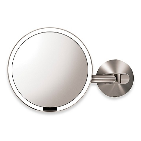 simplehuman® 5X Sensor Wall-Mounted Mirror - Bed Bath & Beyond