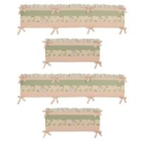 Sweet Jojo Designs Annabel 4-Piece Crib Bumper Set in Peach