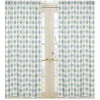 Sweet Jojo Designs Argyle Window Panel Pair in Blue/Green