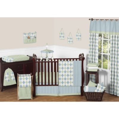 Sweet Jojo Designs Argyle Crib Bedding Collection 11 Piece