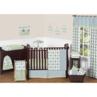 Sweet Jojo Designs Argyle 11-Piece Crib Bedding Set in Blue/Green