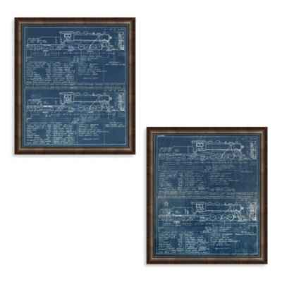Blue Train Framed Art