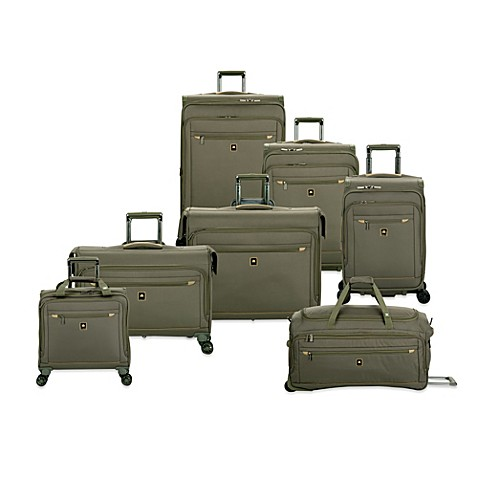 delsey helium x 39 pert lite 2 0 expandable spinner trolley collection in green bed bath beyond. Black Bedroom Furniture Sets. Home Design Ideas