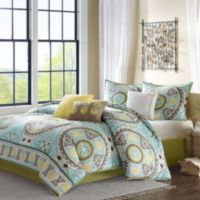 Madison Park Samara 7-Piece King Comforter Set in Blue