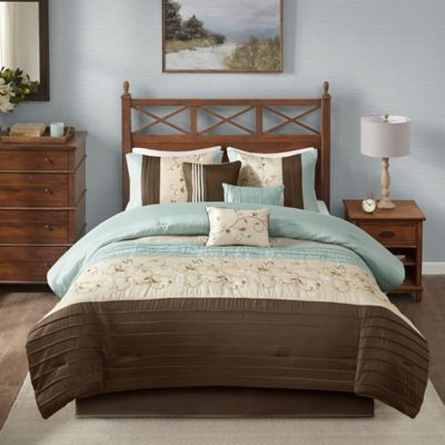 Buy Blue And Brown Comforters From Bed Bath Beyond - Blue and brown comforter sets