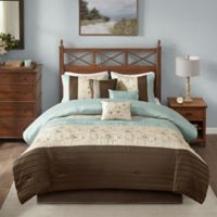 Madison Park Serene 7-Piece Queen Comforter Set in Blue