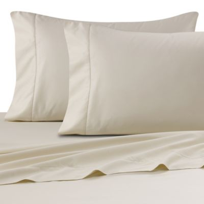 buy wamsutta ultra soft sateen 525 thread count twin flat sheet in ivory from bed bath beyond. Black Bedroom Furniture Sets. Home Design Ideas