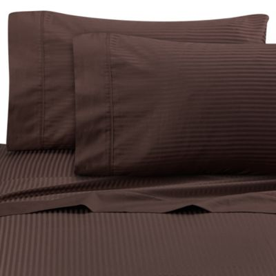 Buy brown and white striped bedding from bed bath beyond for How to buy soft sheets