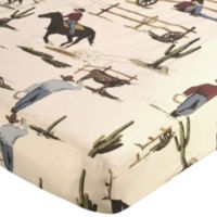 Sweet Jojo Designs Wild West Fitted Crib Sheet in Cowboy Print