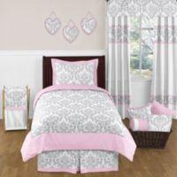 Sweet Jojo Designs Elizabeth 4-Piece Twin Comforter Set in Pink/Grey