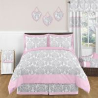 Sweet Jojo Designs Elizabeth 3-Piece Full/Queen Comforter Set in Pink/Grey