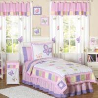 Sweet Jojo Designs Butterfly Standard Pillow Sham in Pink/Purple