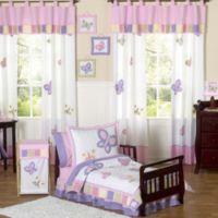 Sweet Jojo Designs Butterfly Collection 5-Piece ToddlerComforter Set in Pink/Purple