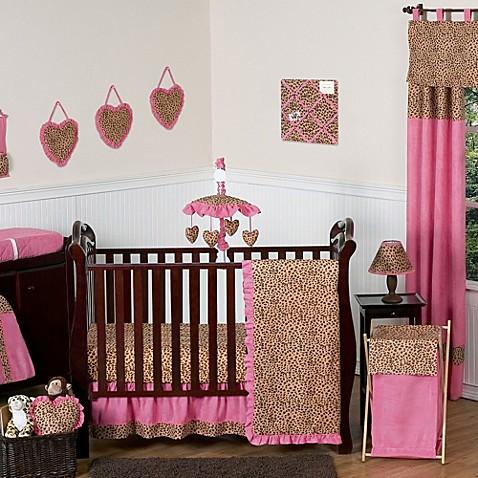 Sweet Jojo Designs Cheetah Girl Crib Bedding Collection