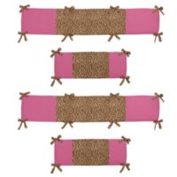 Sweet Jojo Designs Cheetah Girl 4-Piece Crib Bumper Set