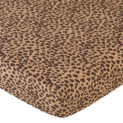 Sweet Jojo Designs Cheetah Girl Crib Sheet in Cheetah Print. Buy Cheetah Print Bedding from Bed Bath   Beyond