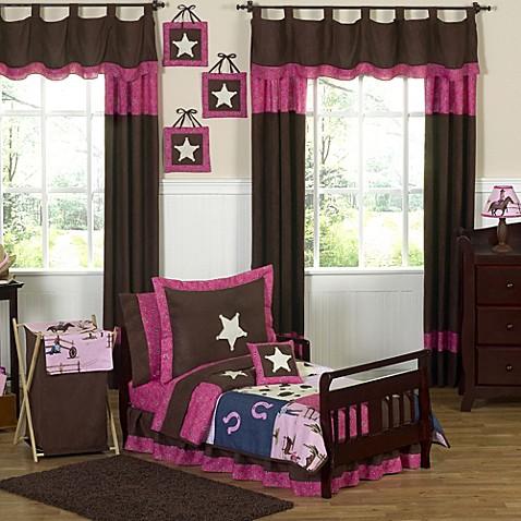Sweet jojo designs cowgirl toddler bedding collection for Sweet jojo designs bathroom