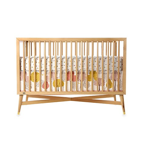 dwellstudio treetops petal crib skirt buybuy baby