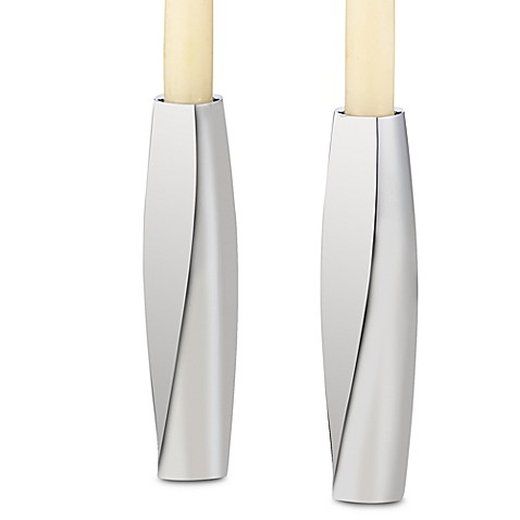 Nambe Twist Candlesticks (Set of 2)