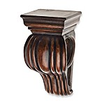 Cambria® Classic Wood Drapery Sconce in Dark Brown