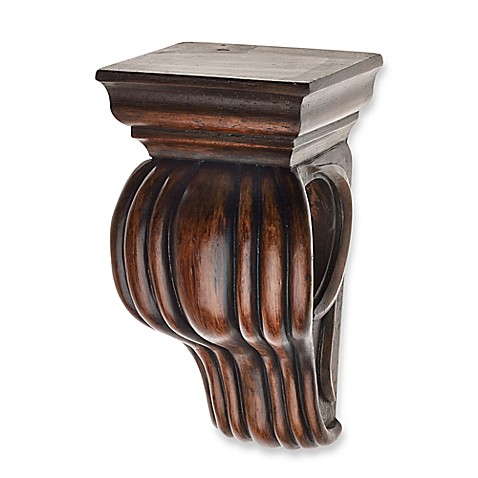Buy Cambria 174 Classic Wood Drapery Sconce In Dark Brown