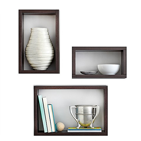 Real Simple® 3-Piece Decorative Rectangles Wall Cube Set in ...