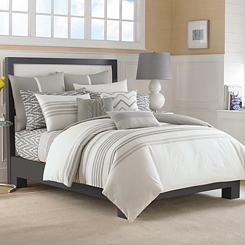 Nautica 174 Margate Duvet Cover Set In Grey Bed Bath Amp Beyond