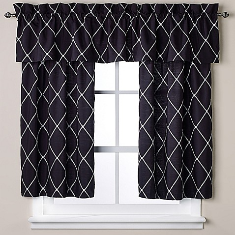black and white bathroom window curtains wellington bath window curtain tier pair in black white 25124