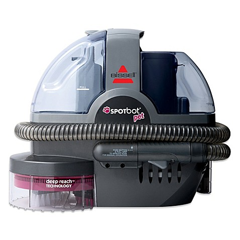 Bissell SpotBot™ Pet Portable Deep Cleaner in Grey Bed