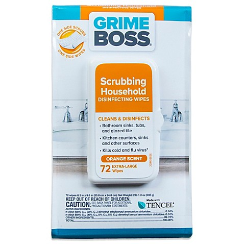 Grime Boss® 72-Count Scrubbing Household Disinfecting Wipes (72 Count)