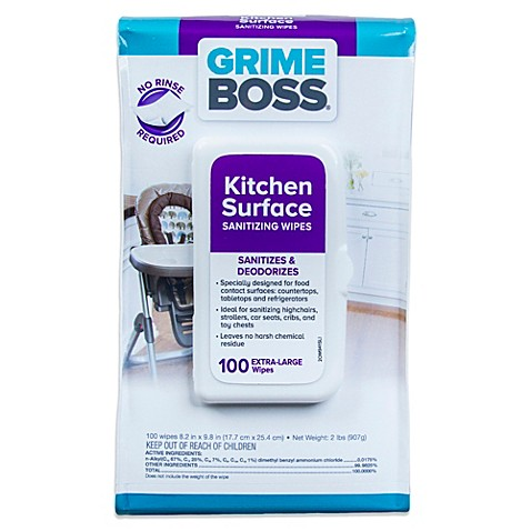 Grime Boss 100-Count Kitchen Surface Sanitizing Wipes