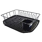 SALT™ Large Dish Rack in Black