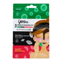 Yes to® Triple Masking Kit with Cucumber Charcoal and Grapefruit