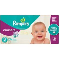 Pampers® Cruisers™174-Count Size 3 Pack Disposable Diapers