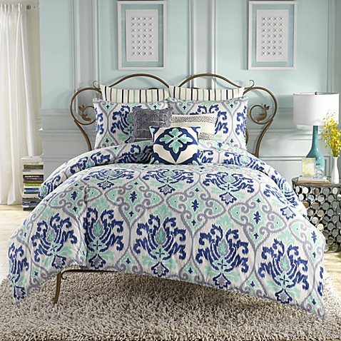 Anthology jolie reversible comforter set in blue bed - Bed bath and beyond bedroom furniture ...
