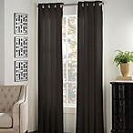 Newport 95-Inch Grommet Window Curtain Panel in Black