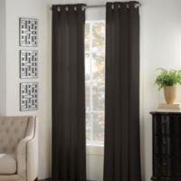 Newport 63-Inch Grommet Window Panel in Black