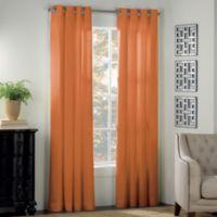 Newport 108-Inch Grommet Window Panel in Pumpkin