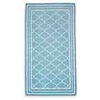 Fretwork Oversized Beach Towel in Blue