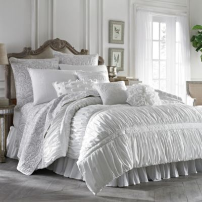 Buy White Ruched Comforter From Bed Bath Amp Beyond