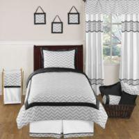 Sweet Jojo Designs Zig Zag Twin 4-Piece Comforter Set in Grey/Black