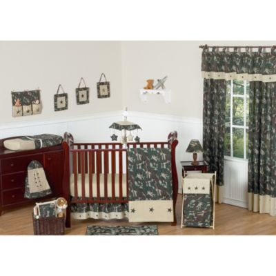 Sweet Jojo Designs Camo Crib Bedding Collection In Green 11