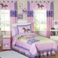 Sweet Jojo Designs Pretty Pony 4-Piece Twin Comforter Set