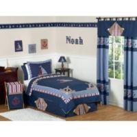 Sweet Jojo Designs Nautical Nights 4-Piece Twin Comforter Set