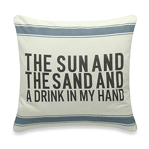 Bed Bath And Beyond Orange Throw Pillows : The Sun And The Sand Square Throw Pillow - Bed Bath & Beyond