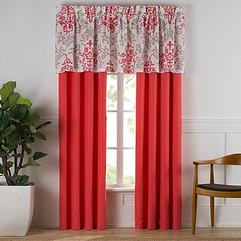 Carina Window Curtain Panel Pair in Coral - Bed Bath & Beyond