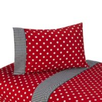 Sweet Jojo Designs Polka Dot Ladybug 4-Piece Queen Sheet Set