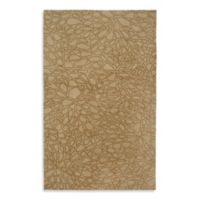 Anna Redmond Floral Light Gold 8-Foot x 10-Foot Area Rug