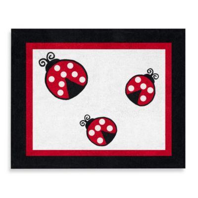 Sweet Jojo Designs Polka Dot Ladybug 30 Inch X 36 Inch Rug
